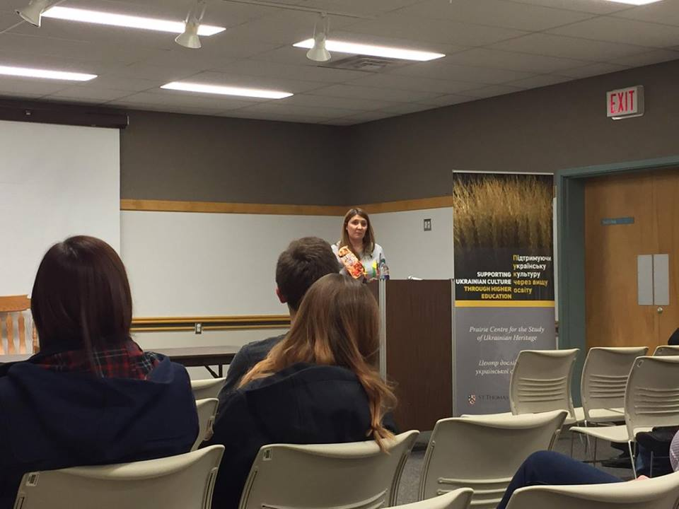 Andrea Chalupa at J.S. Wood Library