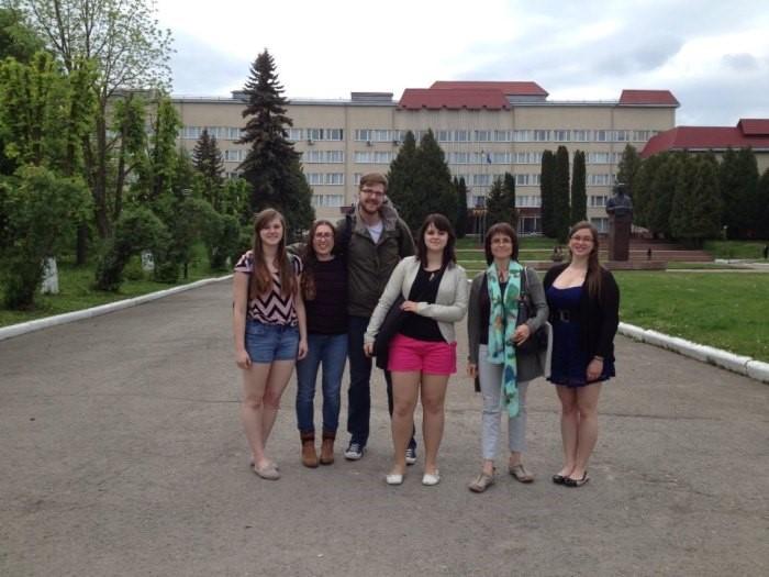 Prof. Khanenko-Friesen with the 2015 SSU Participants,  Ternopil, Ukraine